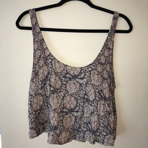 Urban Outfitters Kimchi Blue Pattern Crop Tank Top
